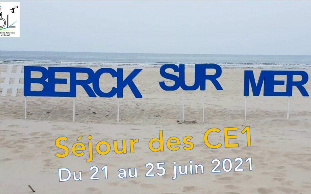 Séjour à Berck des CE1 – du 21 au 25/06/21