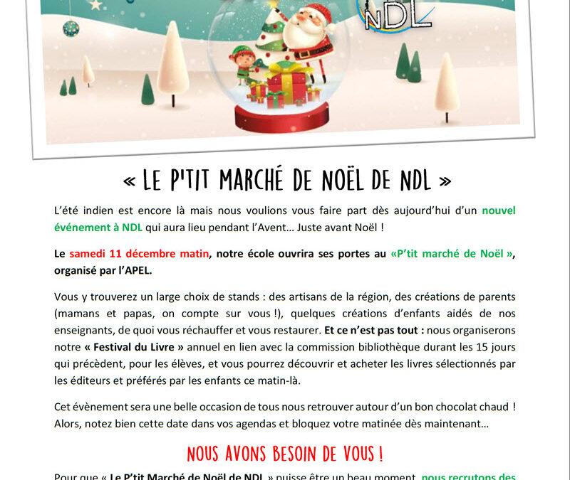 Le P'tit Marché de Noël de NDL !